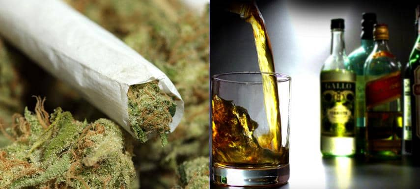 marihuána kontra alkohol